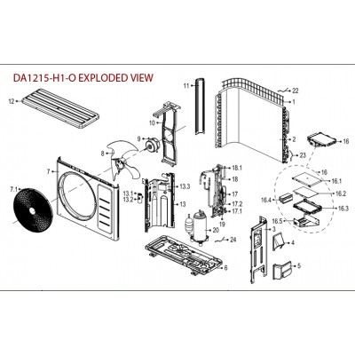 AIR OUTLET GRILL FOR DA1215-OUTDOOR