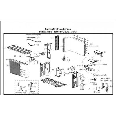 Ambient Temperature Sensor Assembly for DA1221-OUTDOOR, DA1821-OUTDOOR, DA2421-OUTDOOR