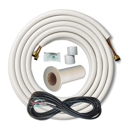 3/8  5/8 DUCTLESS MINI SPLIT INSTALLATION KIT 25FT LINE SET AND WIRE
